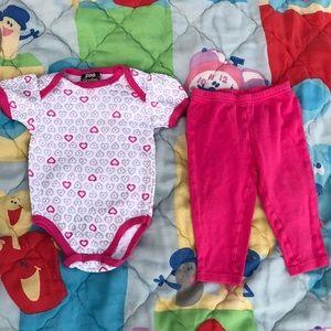 NWOT DDG Darlings Bodysuit Carter's Pink Leggings